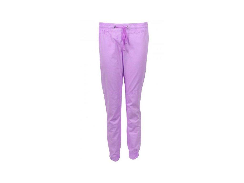 4f3ee96610e Dámské fialové plátěné kalhoty - NemamCoNaSebe.cz