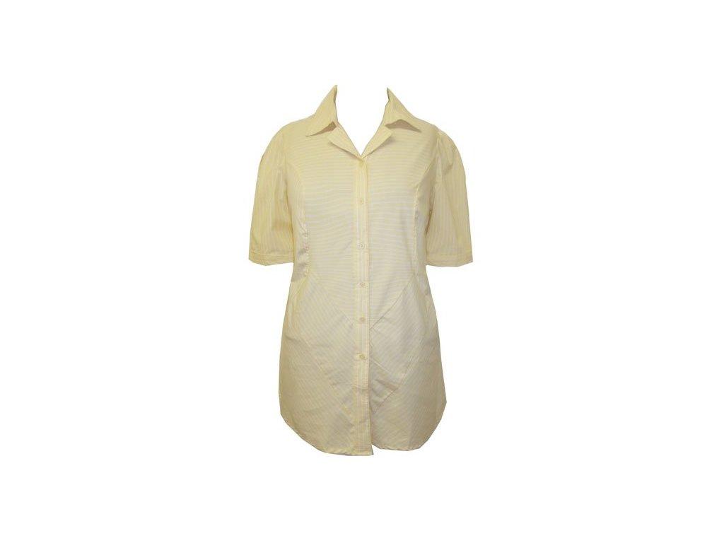 Dámská žlutá halenka s krátkým rukávem - NemamCoNaSebe.cz 4113bb1e04