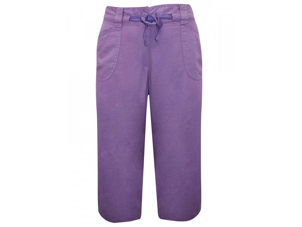 6d6070ed61d Dámské fialové šortky capri kalhoty - NemamCoNaSebe.cz