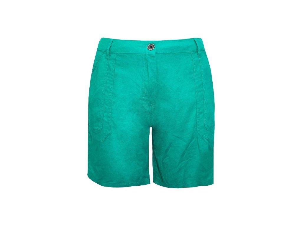 Dámské plátěné zelené šortky kraťasy velikost 50 - NemamCoNaSebe.cz d63bd3d002
