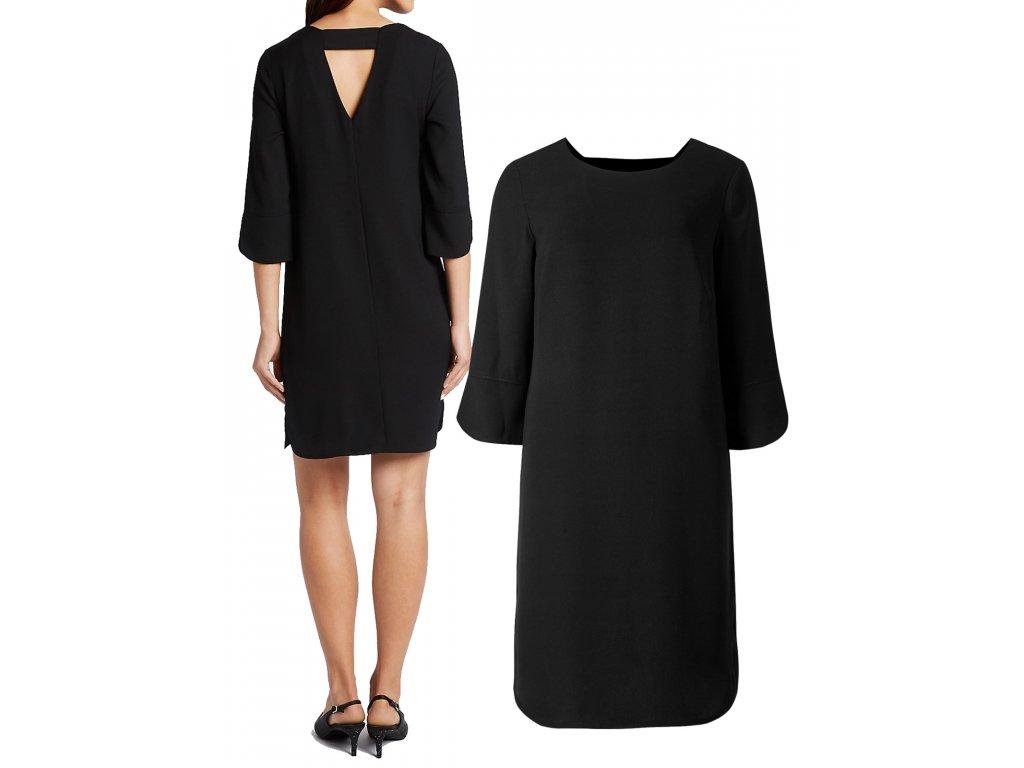 5eb9474c50bb Dámské černé retro šaty koktejlky - NemamCoNaSebe.cz