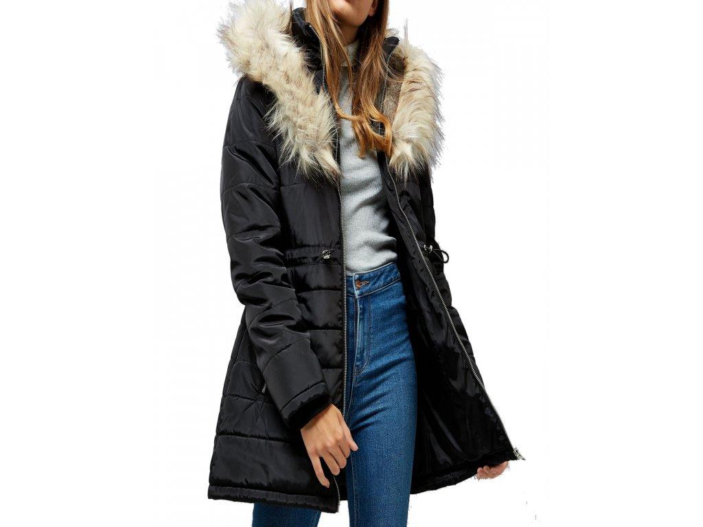Dámský černý zimní kabát prošívaná bunda New Look - NemamCoNaSebe.cz 745b26dadae