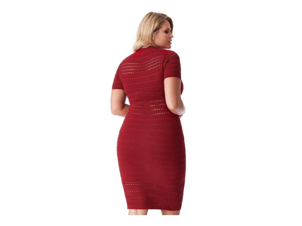 02d530551567 Dámské červené úpletové sexy šaty koktejlky - NemamCoNaSebe.cz
