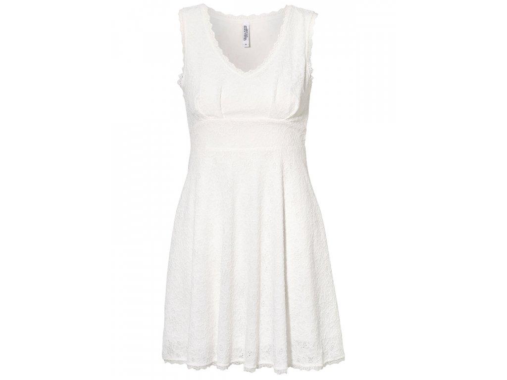 Dívčí   dámské bílé krajkové šaty koktejlky - NemamCoNaSebe.cz d48789ed08