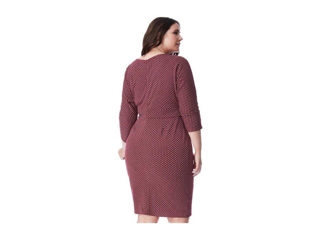372bbc82372a Dámské červené šaty koktejlky puntík velikost 50