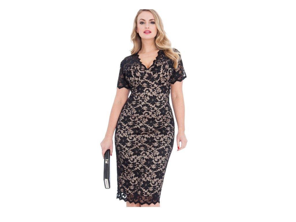 a514671782b 1 z 5. 19b 19a Dámské černé krajkové šaty koktejlky velikost 44 ...