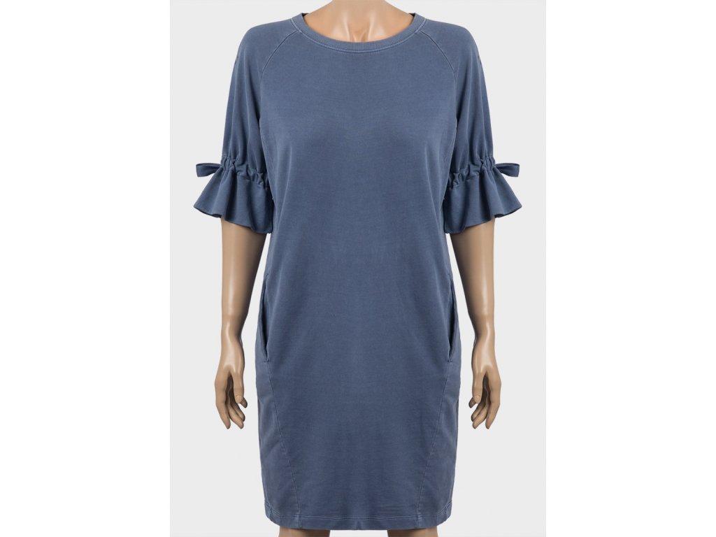 196b7fd2d182 Dámské mikinové šaty oversized modré - NemamCoNaSebe.cz