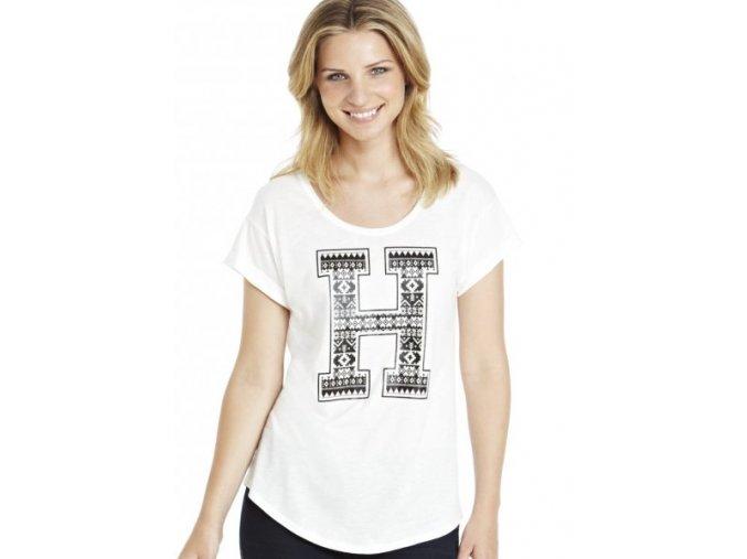 bílé tričko s potiskem krátký rukáv