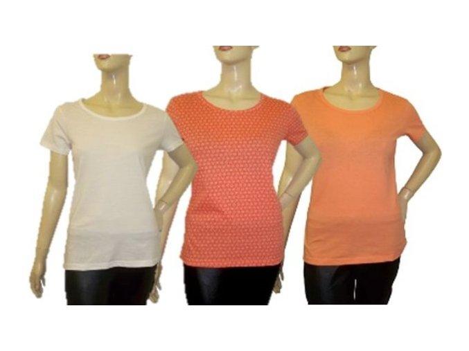 3x dámské tričko klasický střih