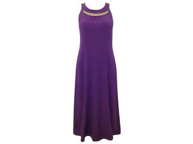 Fialové dlouhé společenské šaty