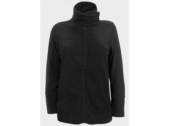 Černá dámská fleecová bunda maxi mikina