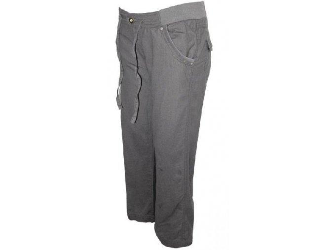 Šedé plátěné sportovní kalhoty