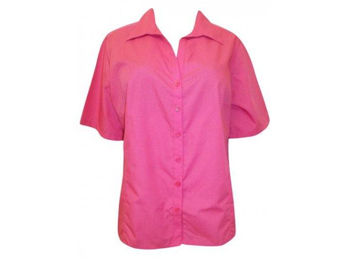 růžová košile - halenka