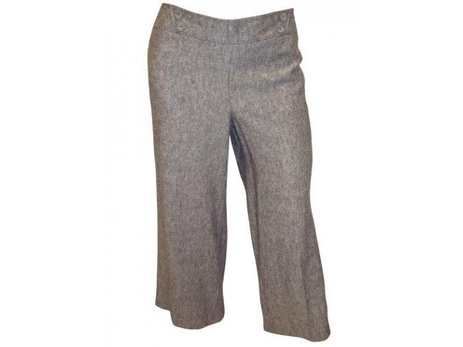 letní tmavě šedé kalhoty