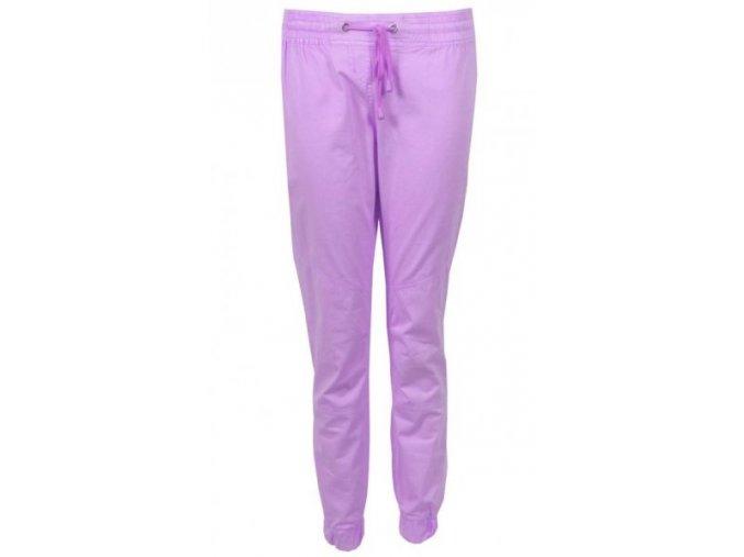 fialové plátěné kalhoty