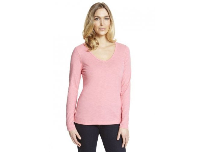 tričko s dlouhým rukávem barva růžová