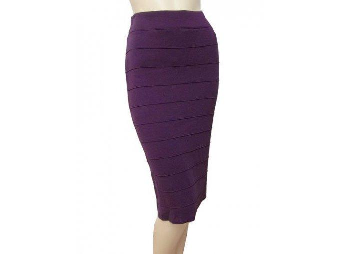 úpletová sukně fialová