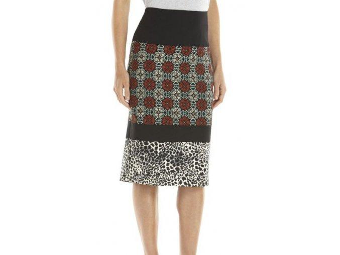 sukně ke kolenům pruhy