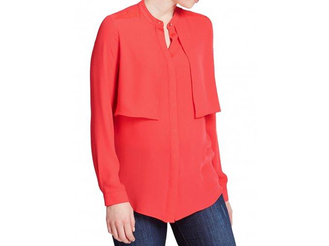 červená košile dlouhý rukáv