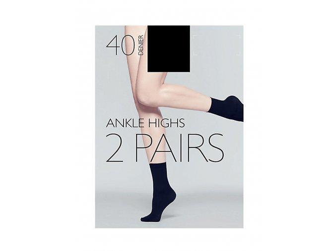 2pack - dámské černé tmavé ponožky 40 DEN