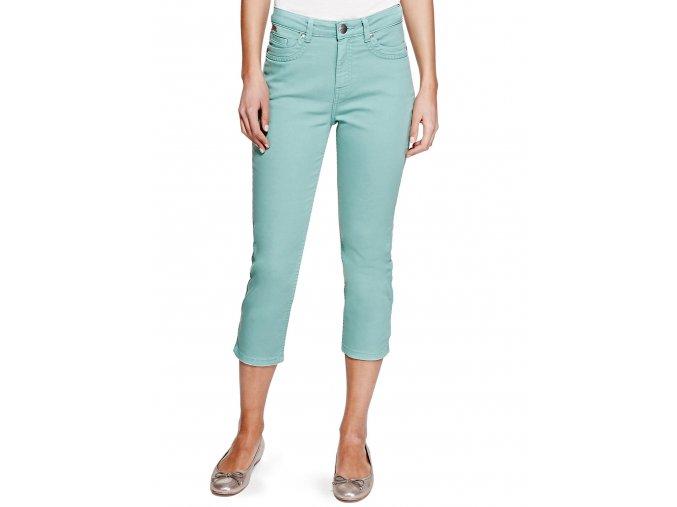 zelené 3/4 capri kalhoty džíny