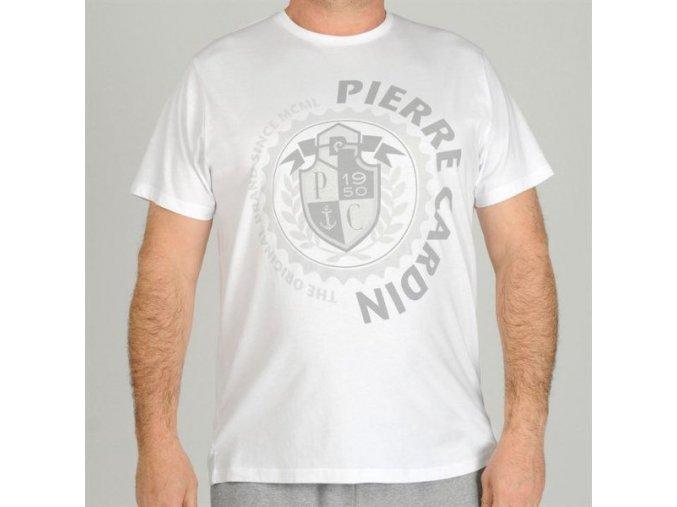 maxi tričko bílé potisk
