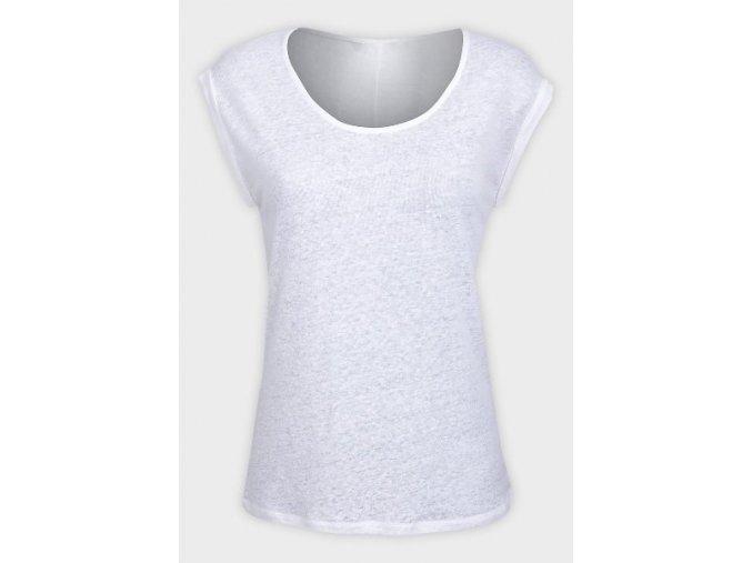bílé úpletové oversized tričko