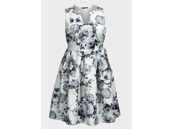 černo-bílé plesové šaty