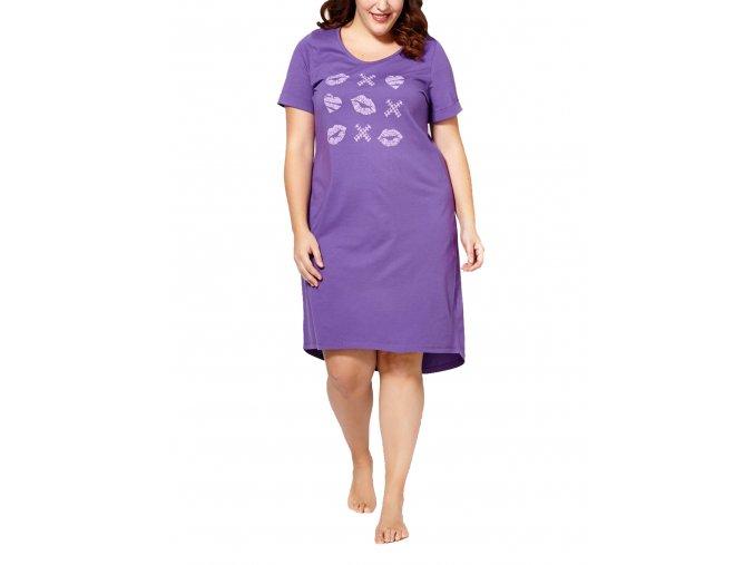 Dámská noční košile fialová dlouhé tričko