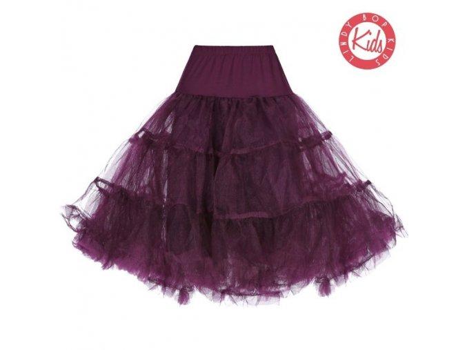 tutu sukně, spodnička Lindy Bop tmavě fialová