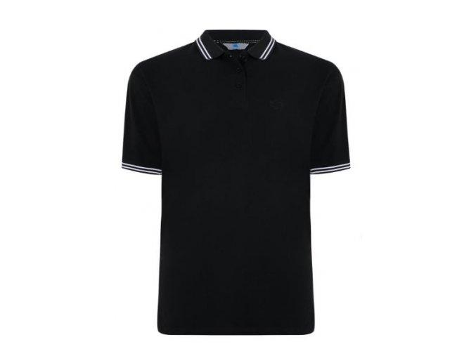 Pánské černé polo tričko 6XL hrudník 184 cm