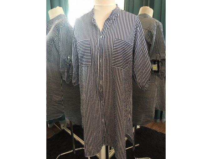 Dámská pruhovaná námořnická prodloužená košile velikost 44 až 46