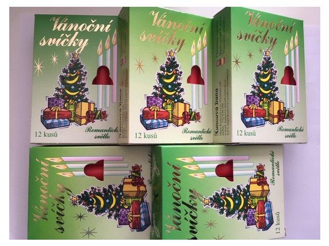 AKCE - 60ks vánoční svíčky červená Andělské zvonění