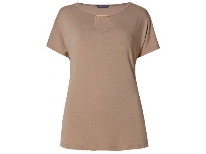 hnědé elegantní tričko top
