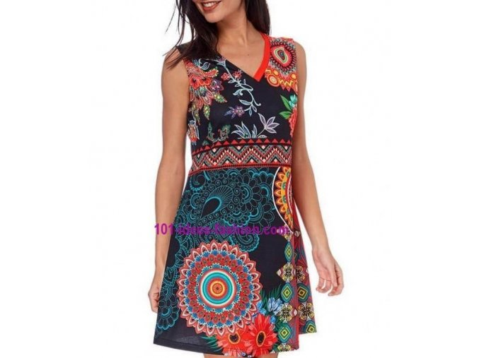 cheap dress tunic ethnic floral print summer 101 idees 634y