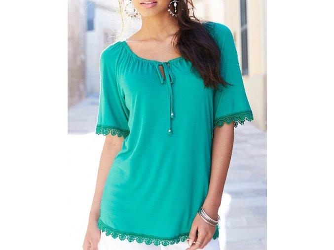zelené tričko top