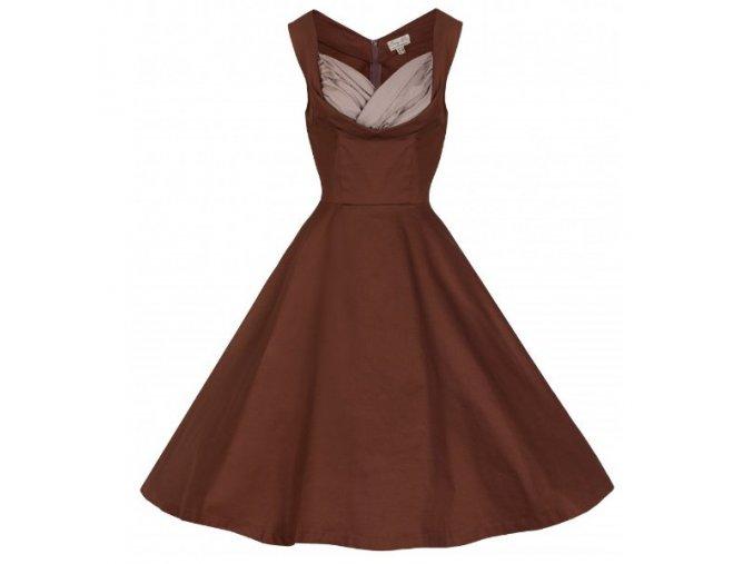 retro šaty hnědé