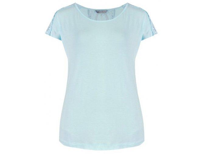 světle modré tričko s krajkou
