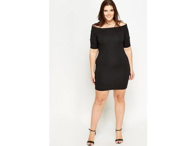 černé mini šaty koktejlky