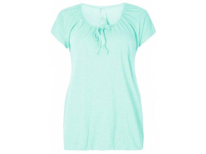zelené tričko guma v pase