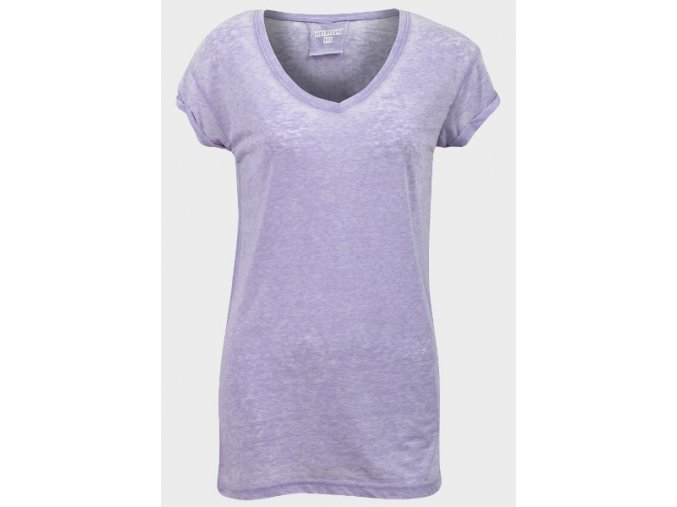 fialové prodloužené tričko