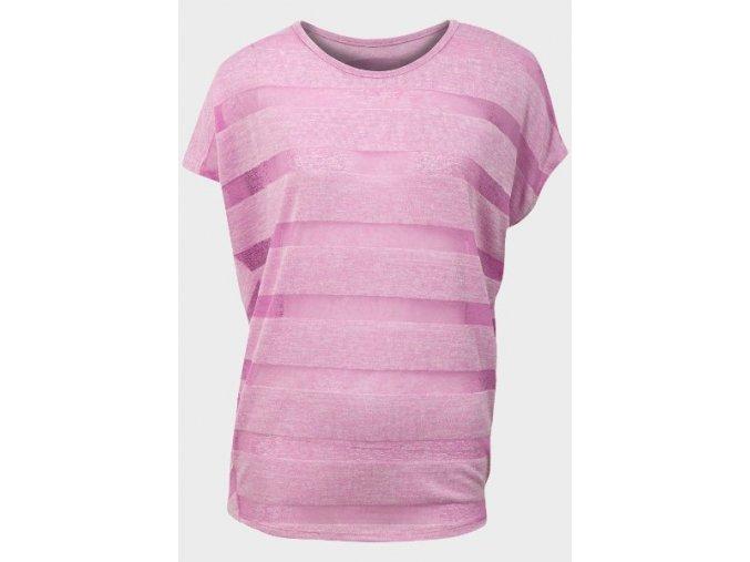 pruhované růžové oversized tričko