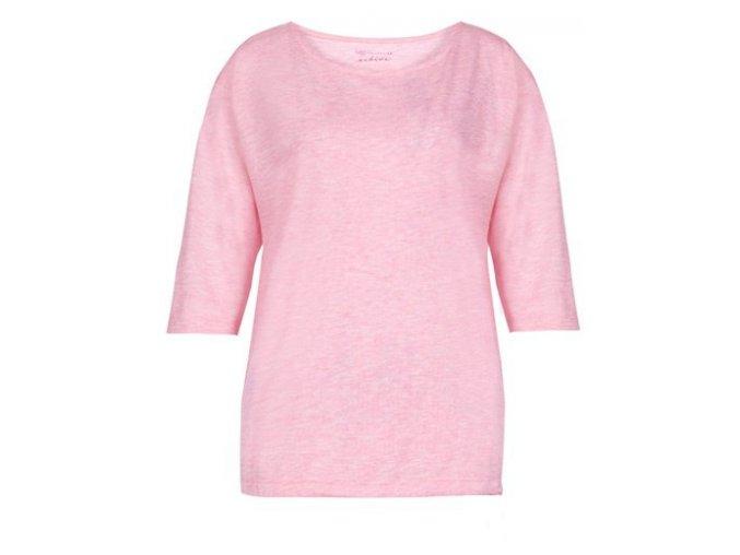 růžové oversized tričko