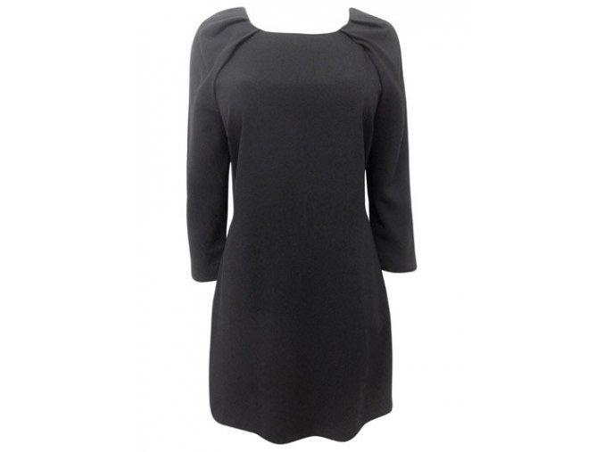 Černé šaty koktejlky, výrazný zip