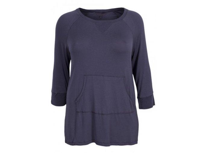modro-šedé tričko dlouhý rukáv