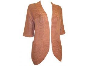 hnědý otevřený svetr - kardigan