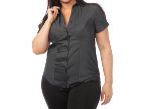 černá pruhovaná košile - halenka