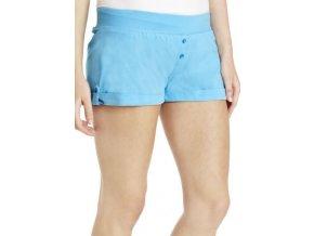 modré bavlněné šortky - kraťasy