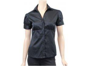 vypasovaná košile , černá