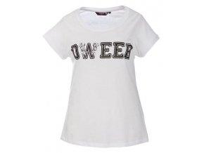 bílé tričko s černým potiskem